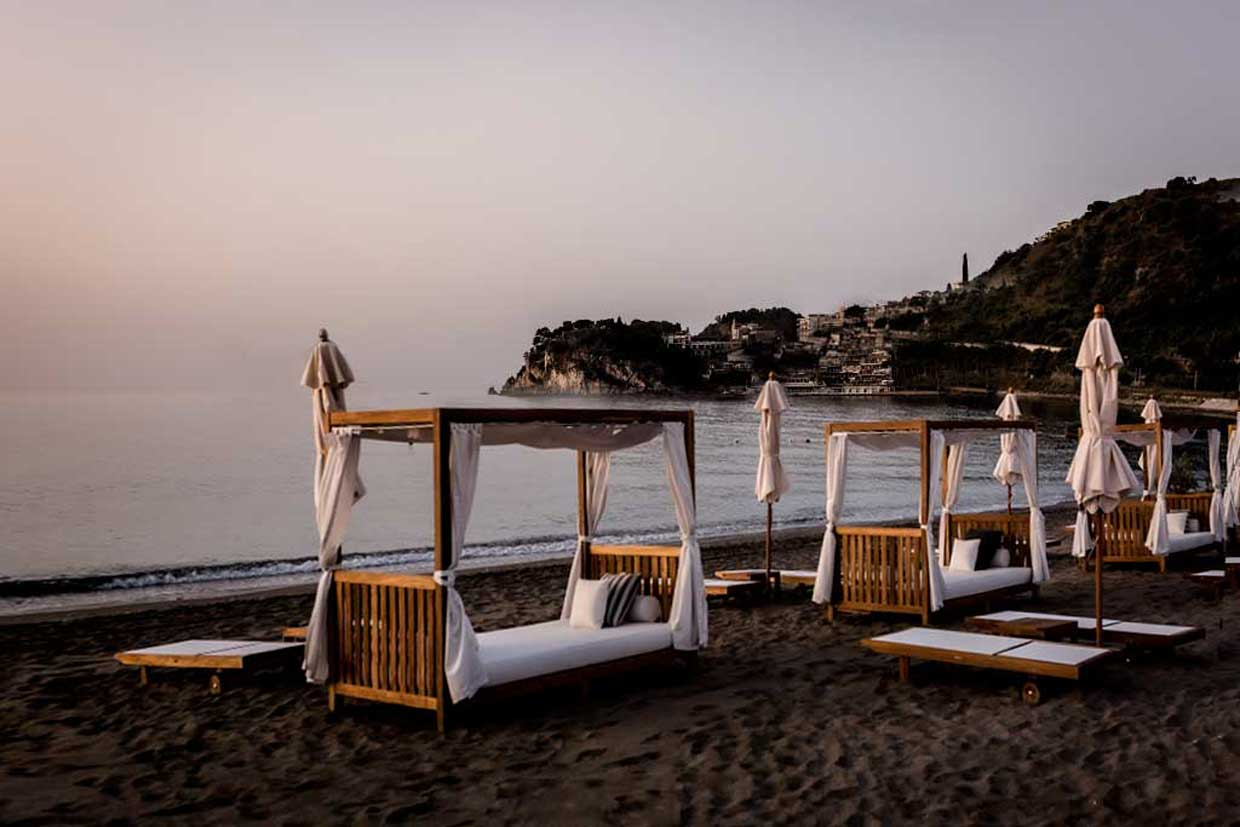 Beach Cabanas Tao Beach Club Taormina